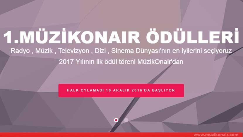 1.MüzikOnair Ödülleri Kategorileri ve Yarışma Takvimi Açıklandı!..