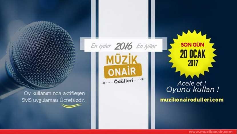 Müzik Onair Ödülleri Oylama Süresi Uzatıldı !