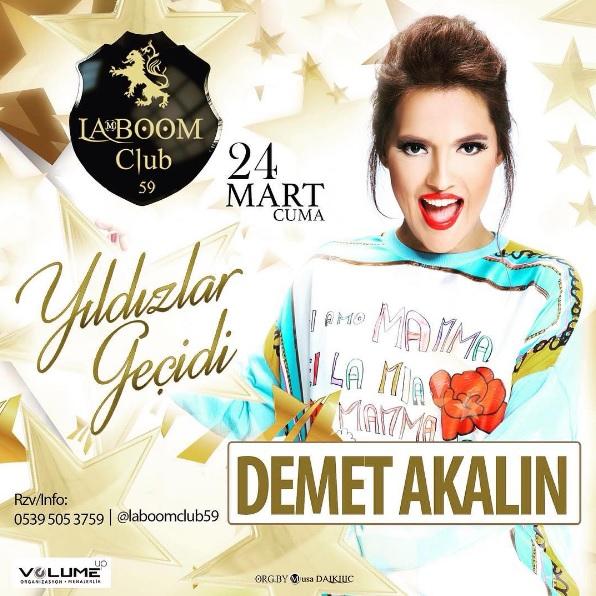 Demet Akalın 24 Mart'ta Tekirdağ'da Sahne Alacak!..