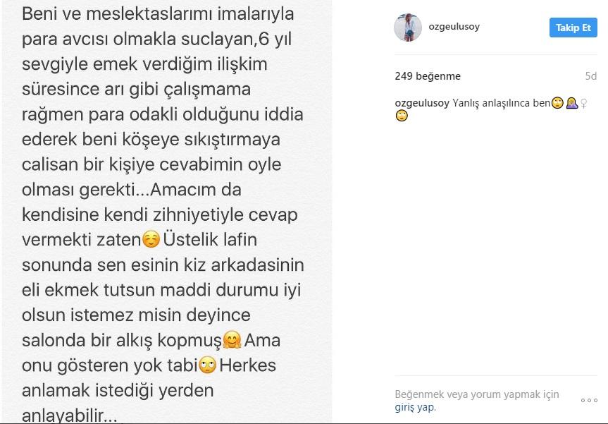 """Özge Ulusoy """"Fakirlerle mi Çıkalım"""" Sözleri için Açıklama Yaptı!.."""