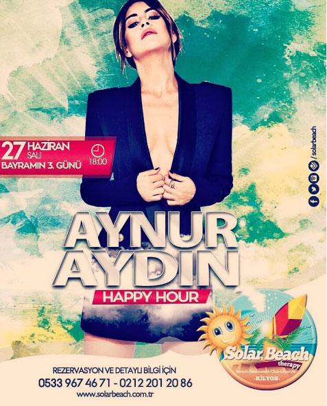 Aynur Aydın Solar Beach'de Konser Verecek!..