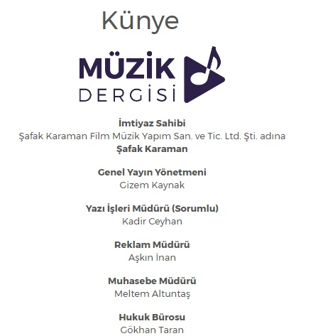 Müzik Dergisi Yayında!..