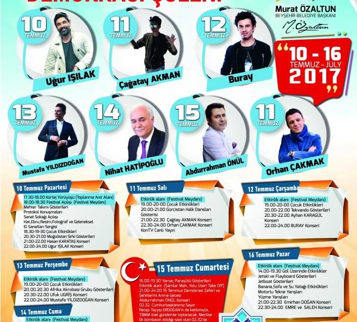 Buray 12 Temmuz'da Konya Beyşehir'de!..