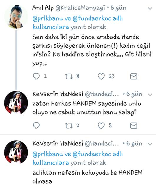 Banu Parlak, Hande Yener'in Fanlarıyla Karşı Karşıya Geldi!..