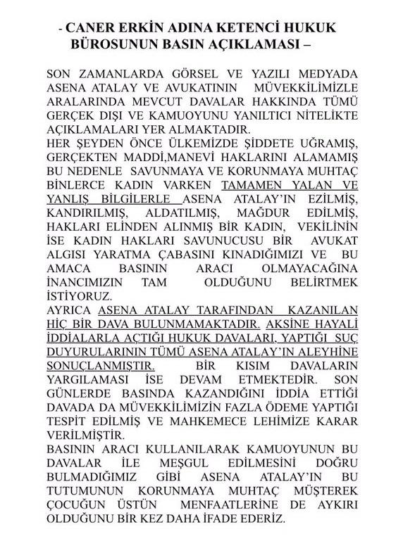 Caner Erkin Davalar Hakkında Sessizliğini Bozdu!..