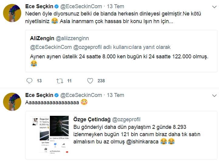Ece Seçkin ve Aleyna Tilki, Işın Karaca'nın Son Klibi için Tıklama Satın Aldığını Ortaya Çıkardı!..