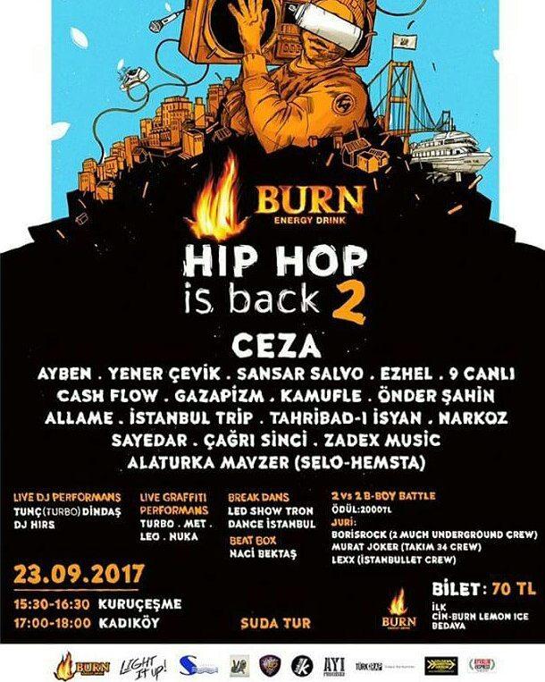 """Türkçe Rap Severlere Müjde, """"Burn Hip Hop is Back 2"""" Başlıyor!.."""