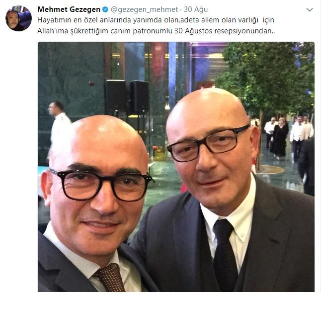 Gezegen Mehmet Patronuna Şükretti!..