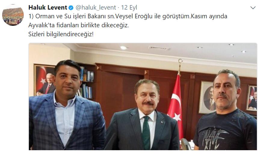 Haluk Levent Yanan Ağaçların Peşine Düştü, Bakanla Görüştü!..