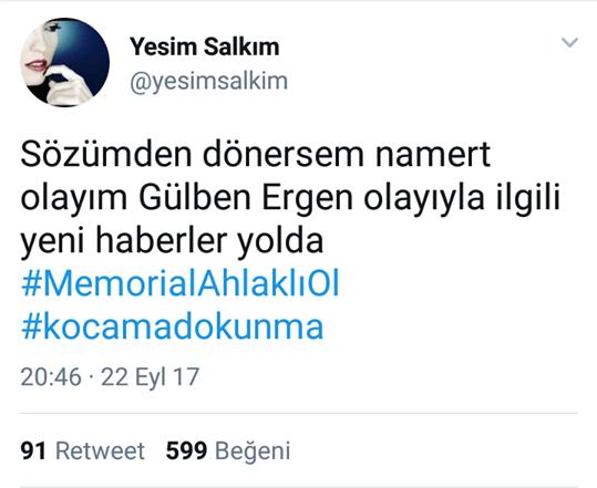 """Yeşim Salkım; """"Gülben Ergen'le İlgili Yeni Haberler Yolda"""""""