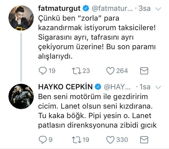 """Fatma Turgut'un Tepkisine Hayko Cepkin Destek Oldu! """"Pipi Yesin O"""""""