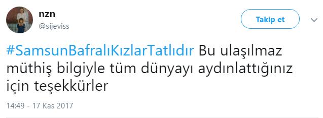 """Sosyal Medya Konuşuyor! """"Samsun Bafralı Kızlar Tatlıdır"""""""