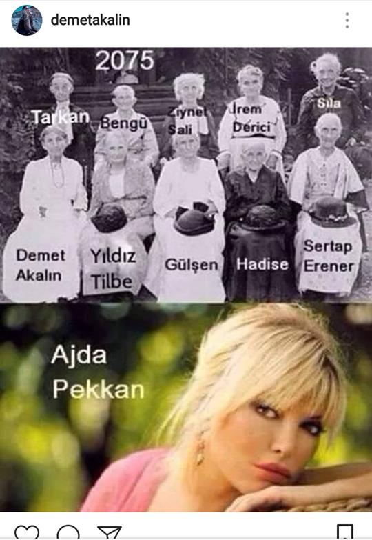 """Demet Akalın'dan Güldüren Paylaşım! """"2075'de Ajda Pekkan ve Biz"""""""