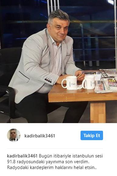 Kadir Balık İstanbul'un Sesi'nden Ayrıldı!..