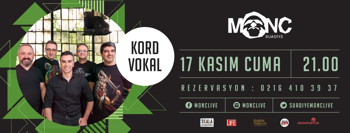 Kord Vokal 17 Kasım'da Suadiye'de!..