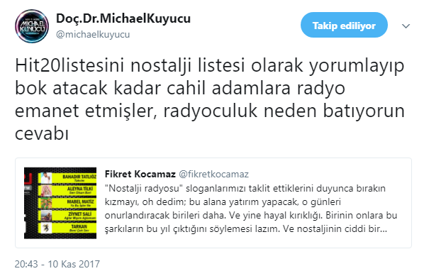 CRI Türk FM ile Pal Nostalji Arasında Polemik!..