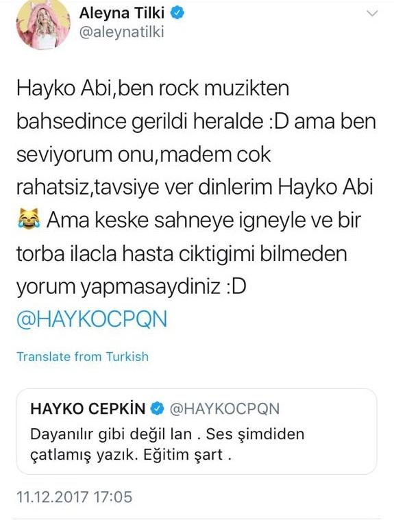 """Aleyna Tilki ile Hayko Cepkin'nin """"Çatlak Ses"""" Hesaplaşması!.."""