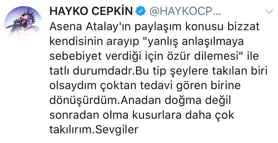 Hayko Cepkin'den Asena Atalay'a İmalı Yanıt!..