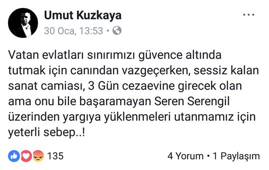 "Radyocu Umut Kuzkaya'dan Alkış Toplayan ""Seren Serengil"" Yorumu!.."