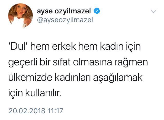 Ayşe Özyılmazel'in 'Dul' Takıntısı!..