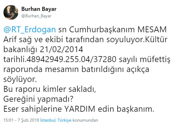 Ünlü Müzik Yapımcısı Arif Sağ'ı Cumhurbaşkanı'na Şikayet Etti!..
