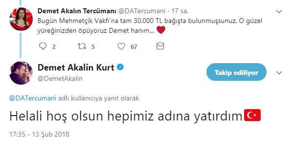 Demet Akalın'dan Mehmetçiğe Büyük Destek!..
