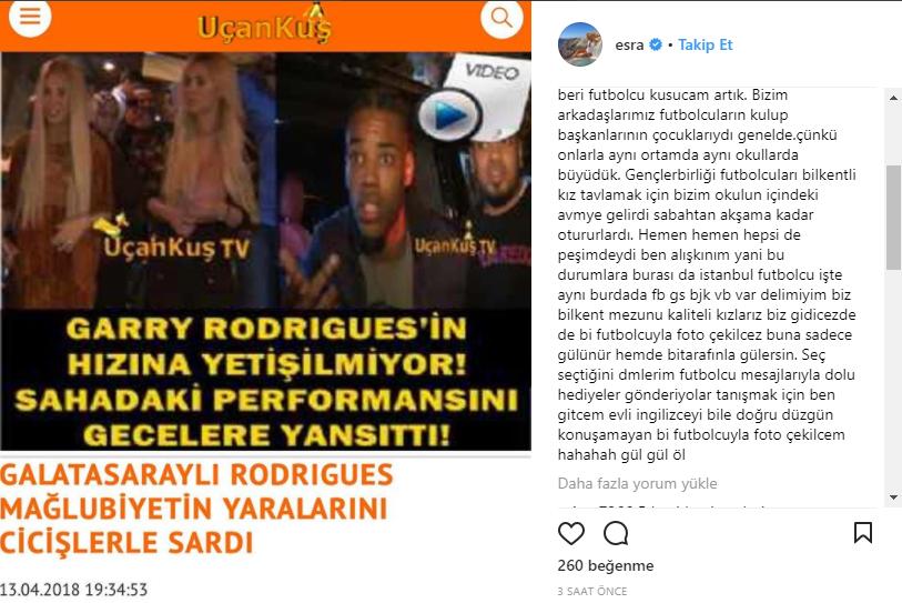 Ciciş Esra'dan Galatasaraylı Garry Açıklaması!..