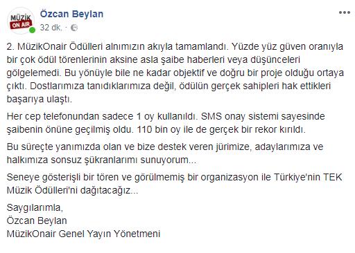 Türkiye'nin En Şaibesiz ve En Objektif Müzik Ödülleri!..
