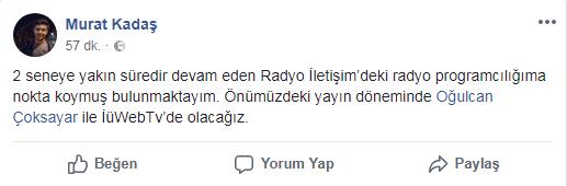 Murat Kadaş, Radyo'dan WebTV'ye Geçti!..