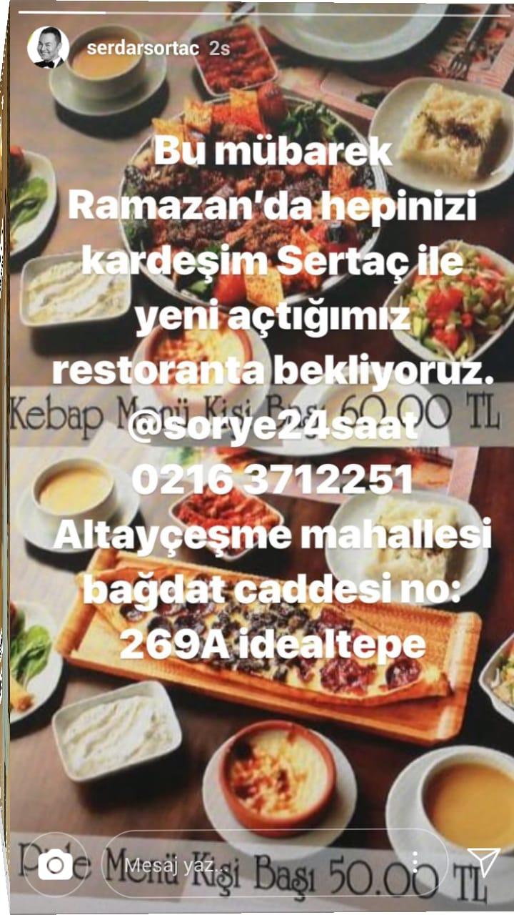Serdar Ortaç Restaurant Açtı!..