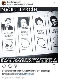 Baydamar Ersin Müslüm Gürses'e Oy Verdi!..