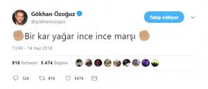 Gökhan Özoğuz'dan 'İnce' Twiti!..