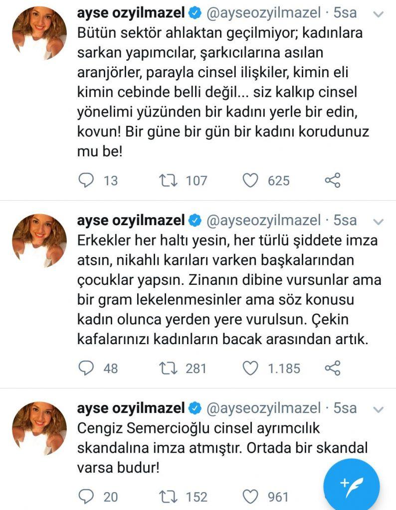 """Ayşe Özyılmazel'den Mustafa Ceceli'ye: """"Çocuğuna Yarın Ne Diyeceksin!"""""""