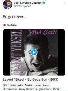 Zeki Kayahan Coşkun'dan 'Bu Gece Son' Paylaşımı!..