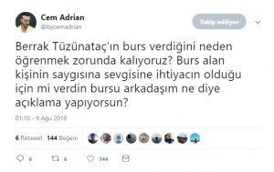 Cem Adrian'dan Berrak Tüzünataç'ı Kızdıracak Sözler!..