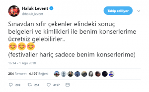 Haluk Levent'ten ÜniversiteSınavına Girenlere Müjde!..
