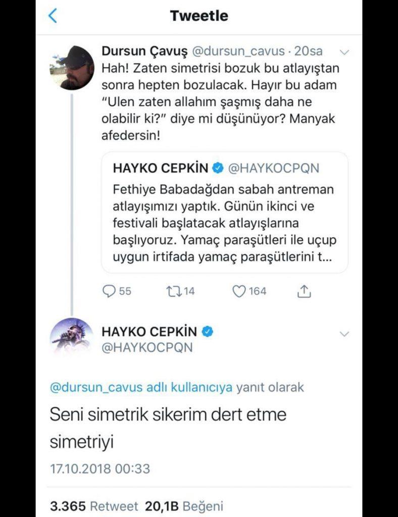Hayko Cepkin'den Takipçisine Küfürlü Yanıt!..