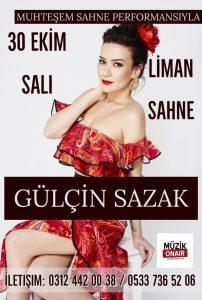 Gülçin Sazak Bu Akşam Liman Sahne'de!..