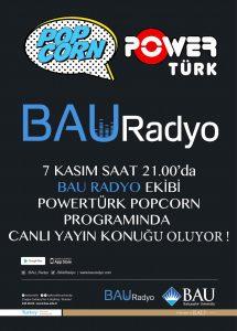 BAU Radyo PowerTürk'e Konuk Oluyor!