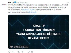 Kral TV Resmen Açıkladı: '1 Şubat'tan İtibaren Sadece Dijitalde…'