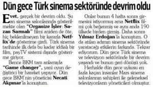 Türk Sinema Tarihinde Devrim !