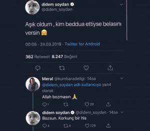 """Didem Soydan: """"Kim Beddua Ettiyse Belasını Versin"""""""