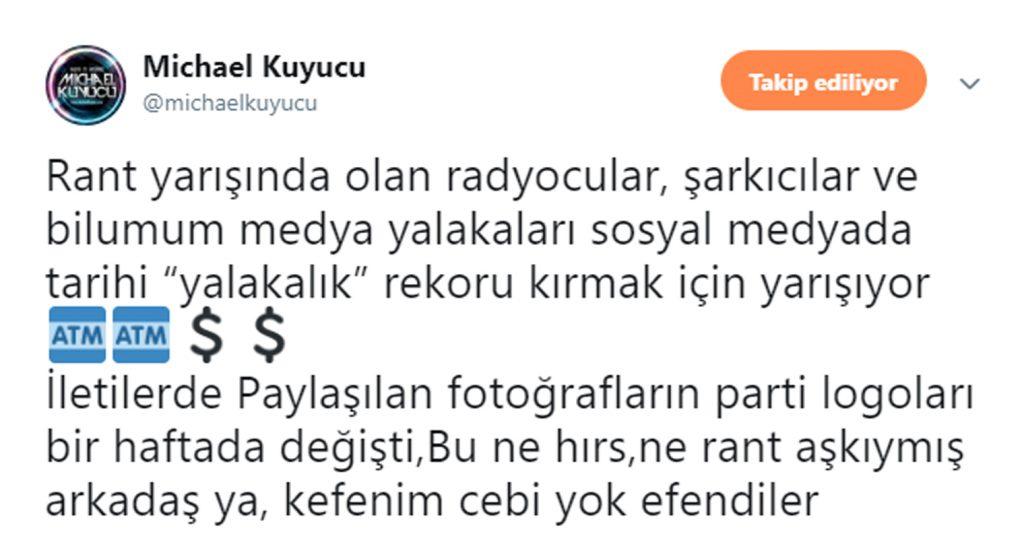 """Michael Kuyucu'dan Sert Sözler; """"Çok Yazık"""""""