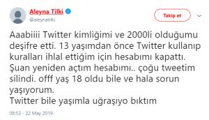 Twitter Aleyna Tilki'den Ne İstiyor?