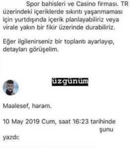 "Reynmen ""Haram"" Diyerek Reddetti"