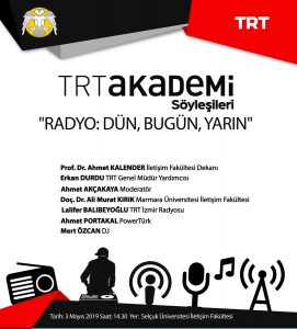 TRT Akademi Söyleşileri 3 Mayıs'ta