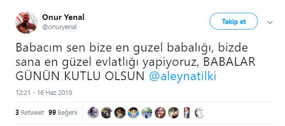 """Aleyna Tilki'ye """"Babalar Günün Kutlu Olsun"""" Mesajları Yağıyor"""