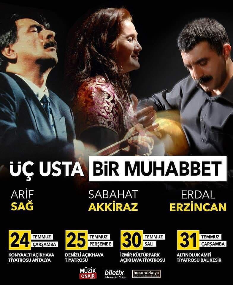 Müzikonair Üç Usta Türkücünün Konserine Bilet Hediye Ediyor