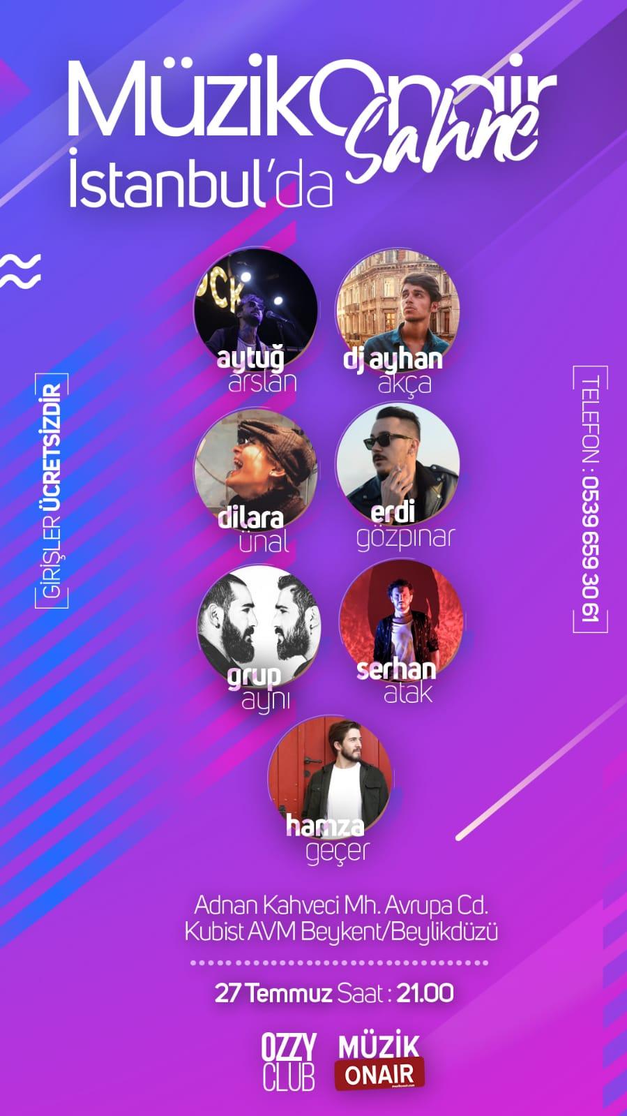 Müzik Onair Sahne İstanbul İçin Geri Sayım Başladı