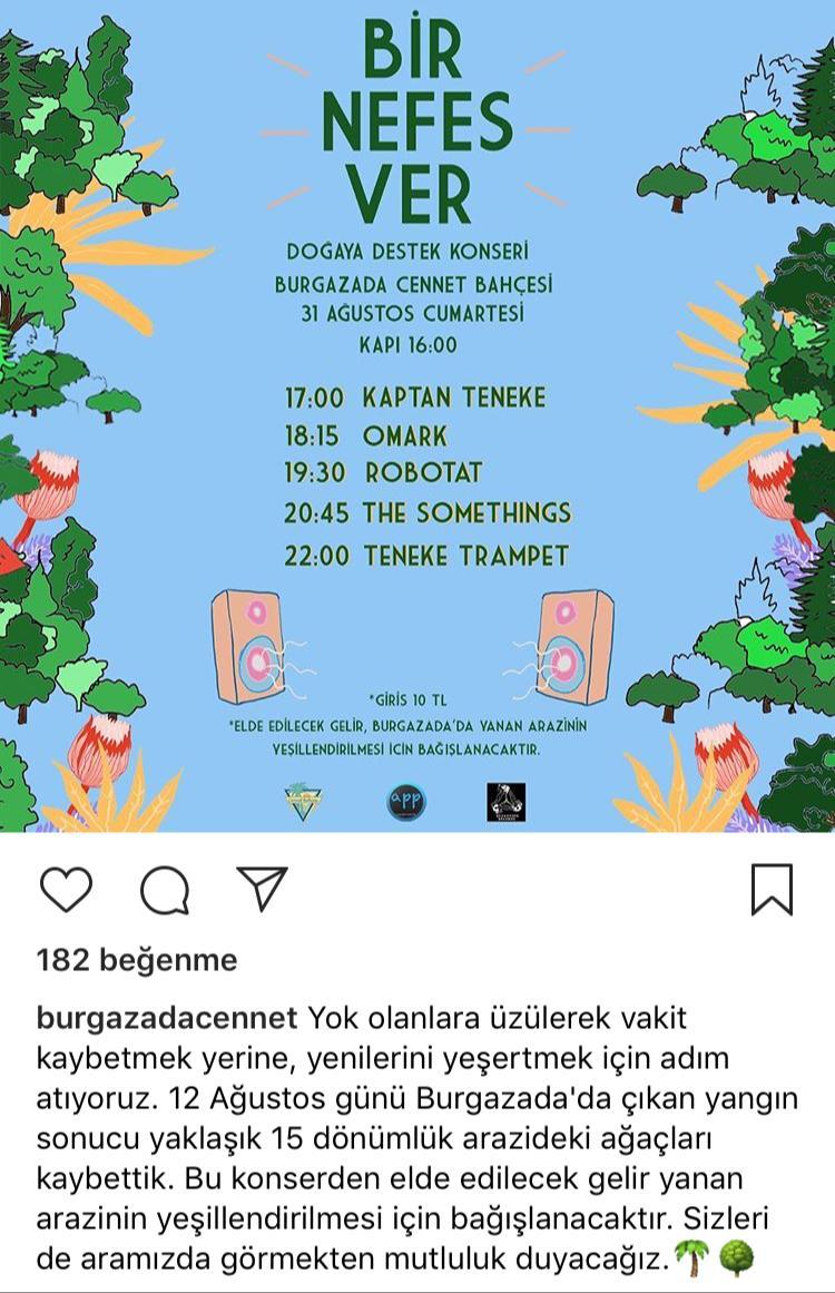 Burgazada Cennet Bahçesi'nde Doğaya Destek Konseri